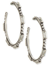 Dannijo Lyra Crystal Hoop Earrings