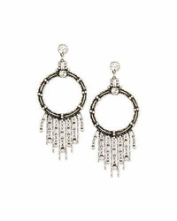 Dannijo Mila Hoop Fringe Drop Earrings
