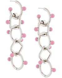 Marni Drop Chain Pendant Earrings