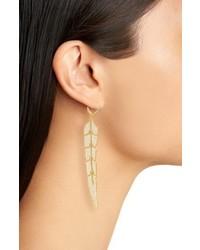Melinda Maria Feather Drop Earrings