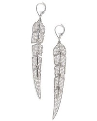Melinda Maria Feather Drop Earrings