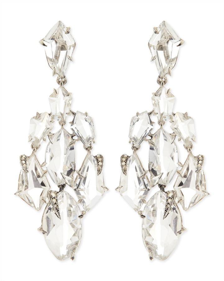 Alexis bittar fine clear quartz claw diamond chandelier earrings alexis bittar fine clear quartz claw diamond chandelier earrings mozeypictures Image collections