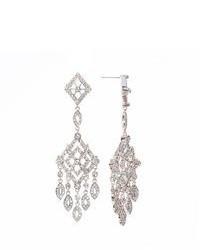 FINE JEWELRY Telio By Doris Panos Anastasia Silver Tone Crystal Chandelier Earrings