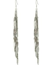 GUESS Fringey Linear Earrings Earring