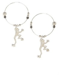 Toga Frog Hoop Earrings