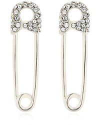 Giuseppe Zanotti Design Safety Pin Embellished Earrings