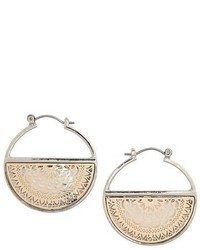 Topshop Half Filigree Hoop Earrings