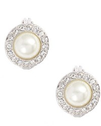 Givenchy Imitation Pearl Clip On Earrings