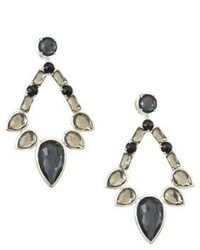 Ippolita Sterling Silver Rock Candy Large Multi Stone Open Teardrop Earrings