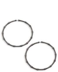 John Hardy Bamboo Large Sterling Silver Hoop Earrings2