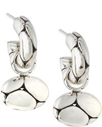 John Hardy Kali Oval Pebble Hoop Drop Earrings