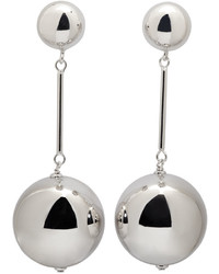 J.W.Anderson Jw Anderson Silver Sphere Drop Earrings