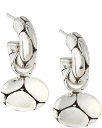 John Hardy Kali Oval Pebble Hoop Drop Earrings
