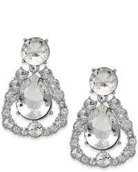 Kate Spade New York Silver Tone Crystal Chandelier Teardrop Earrings