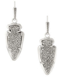 Kendra Scott Kate Arrowhead Druzy Drop Earrings