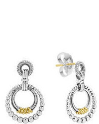 Lagos Superfine Caviar Double Hoop Earrings