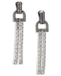 Lanvin Clip On Crystal Drop Earrings
