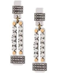 Lanvin Embellished Clip On Earrings