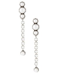 Lanvin Pearl Drop Clip On Earrings