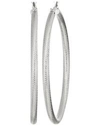 GUESS Large Textured Tube Hoop Earrings Earring