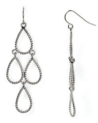 Lauren Ralph Lauren Adorned Metal Teardrop Chandelier Earrings