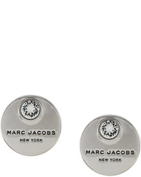 Marc Jacobs Logo Coin Stud Earrings
