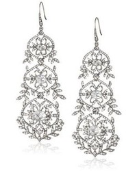 Carolee Lux Crystal Basics Metal Antique Crystal Chandelier Earrings