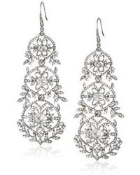 Carolee Lux Crystal Basics Metal Antique Crystal Chandelier Earrings