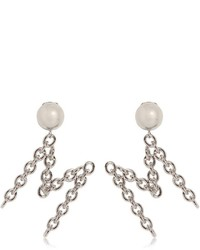 Moschino M Metal Chain Earrings