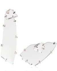 Maison Margiela Perspex Asymmetrical Earrings