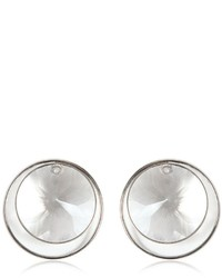 Maison Margiela Round Crystal Stud Earrings