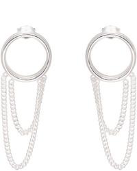 Maison Margiela Silver Chain Hoop Earrings