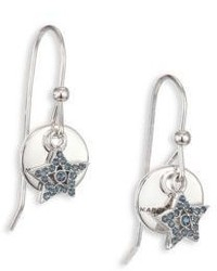 Marc Jacobs Mj Coin Crystal Pave Star Drop Earrings