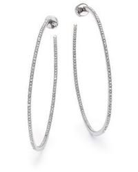 Michael Kors Michl Kors Brilliance Statet Pav Silvertone Inside Outside Hoop Earrings215