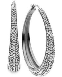 Michael Kors Michl Kors Clear Pav Hoop Earrings