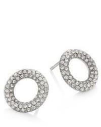 Michael Kors Michl Kors Brilliance Pave Crystal Stud Earringssilvertone