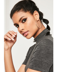 Missguided Silver 3 Pack Hoop Earrings