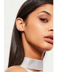 Missguided Silver 6 Pack Stud Earring Set