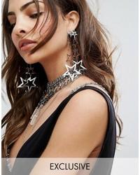 Reclaimed Vintage Multi Star Drop Earrings