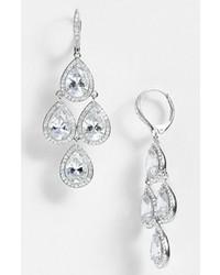 Nadri Cubic Zirconia Chandelier Earrings