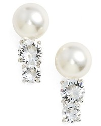 Nadri Imitation Pearl Stud Earrings