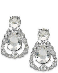 Kate Spade New York Silver Tone Crystal Chandelier Teardrop Earrings