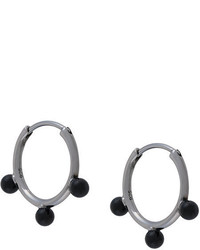 Astley Clarke Onyx Hazel Hoop Earrings