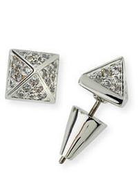 Eddie Borgo Pav Crystal Pyramid Stud Earrings