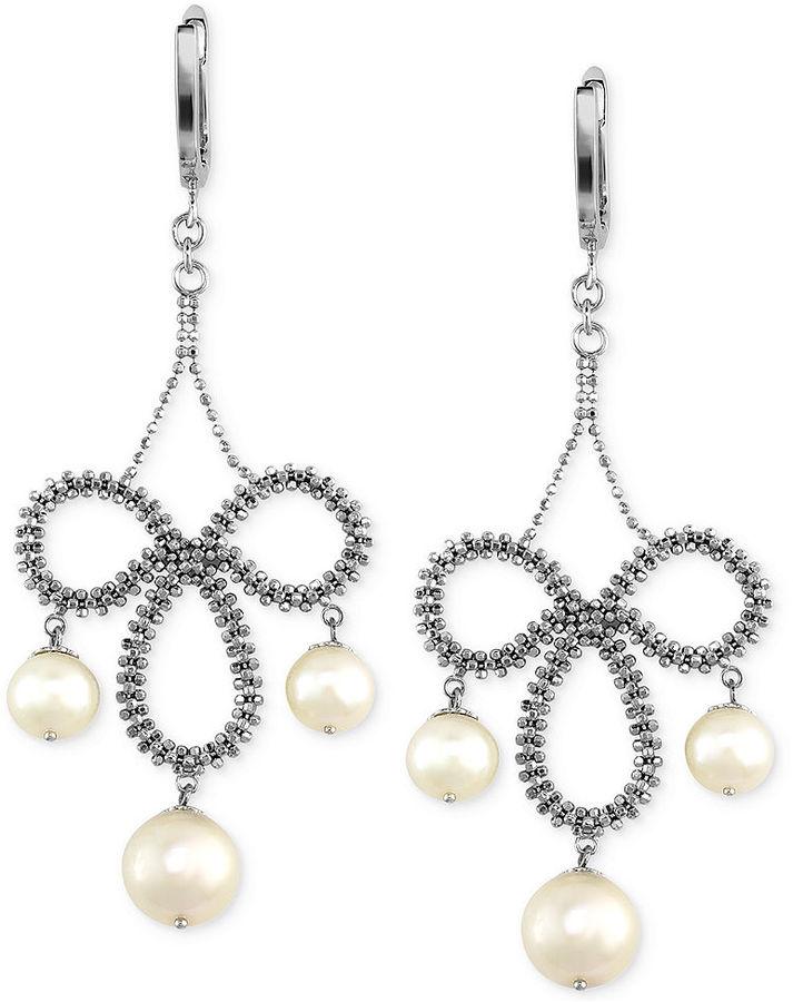 Effy Pearl Lace By Cultured Freshwater Chandelier Earrings In Sterling Silver