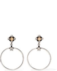 Dannijo Rue Oxidized Silver Plated Swarovski Crystal Earrings