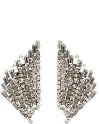 Saint Laurent Cocktail Wing Embellished Clip On Earrings