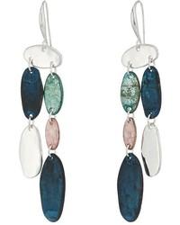 Robert Lee Morris Silver And Patina Chandelier Earrings Earring