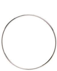 Saskia Diez Silver Bold Wire Hoop Earring