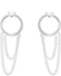 Maison Margiela Silver Chain Hoop Earrings